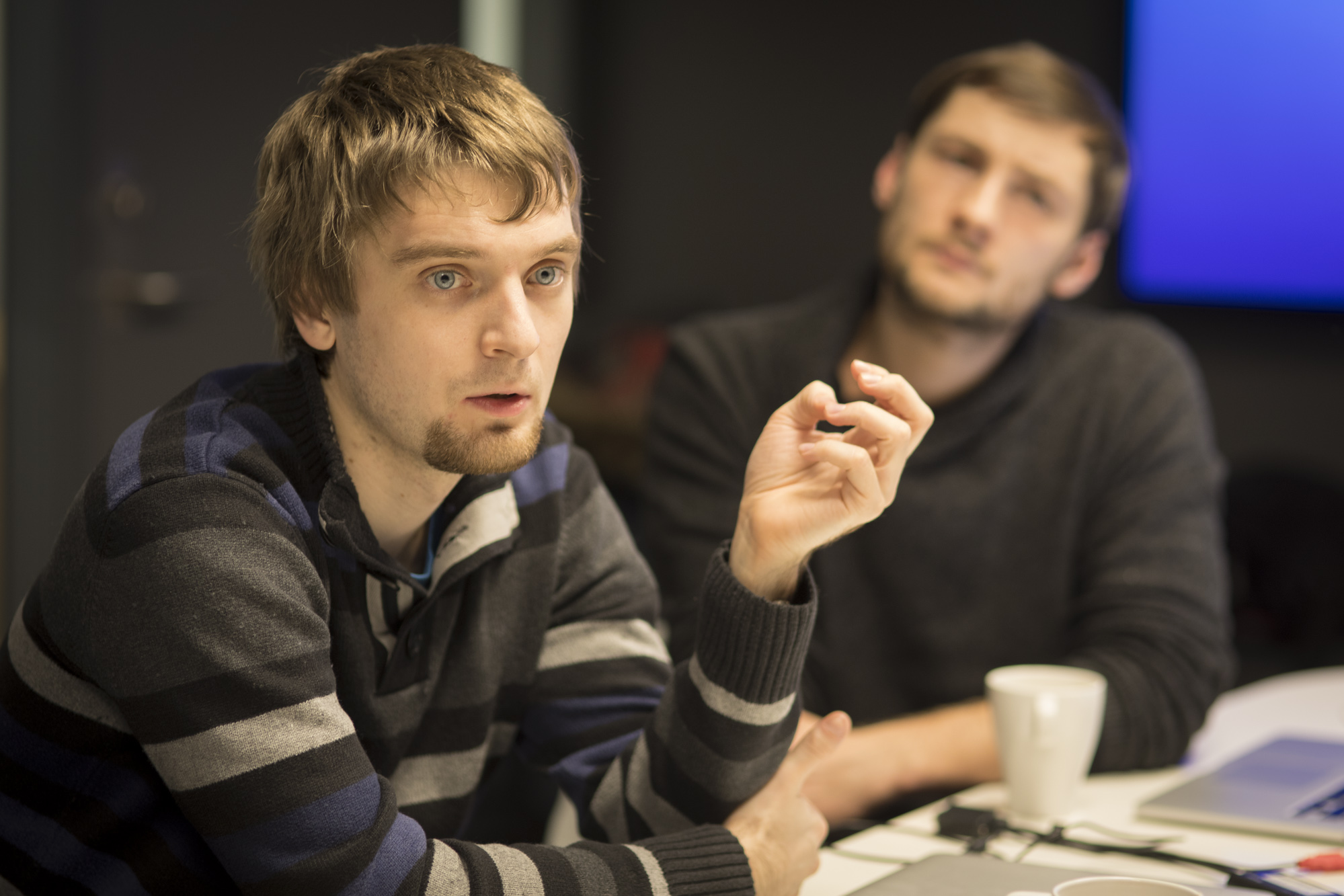 Maciej Kosiedowski was one of the six developers in the team. Here at the workshop in Oslo in December.